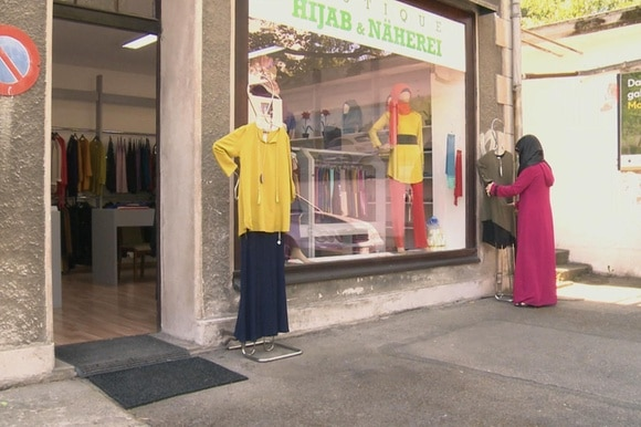 A clothes shop for Muslim women