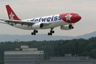 Edelweiss brand airplane
