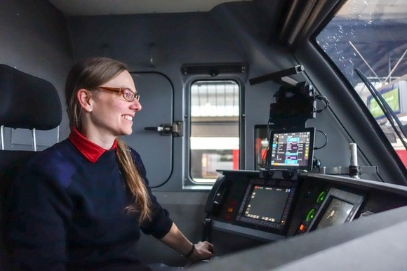 Train driver Lea Steppacher