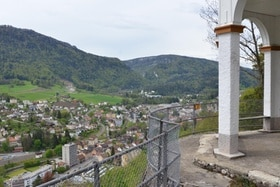Vista panoramica su Moutier.