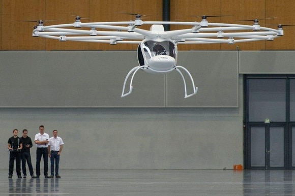 Electric plane called Volocopter