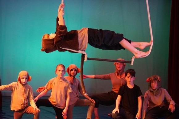 Schlussvorstellung der jungen Auslandschweizer Kinder zusammen mit dem Zirkus Pipistrello