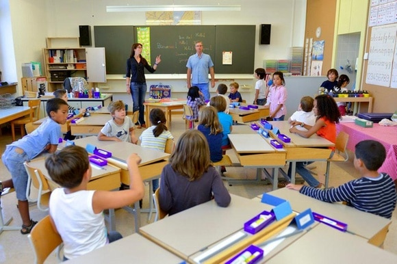 TEACHERS IN A CLASSROOM
