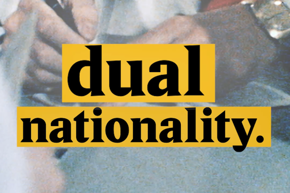 A cover image for a Nouvo video about dual nationality.