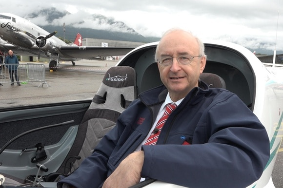 Frank Anton in the cockpit of the E-Fusion