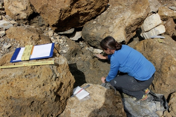 women conducting archaeological excavations