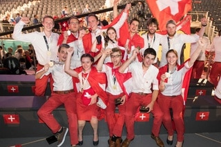 All the Swiss gold medalists at the 2017 WorldSkills in Abu Dhabi