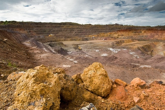 An open mining site in DRC