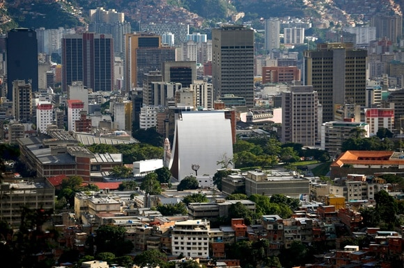 Downtown Caracas is seen from the top of Avila, also known as Waraira Repano mountain