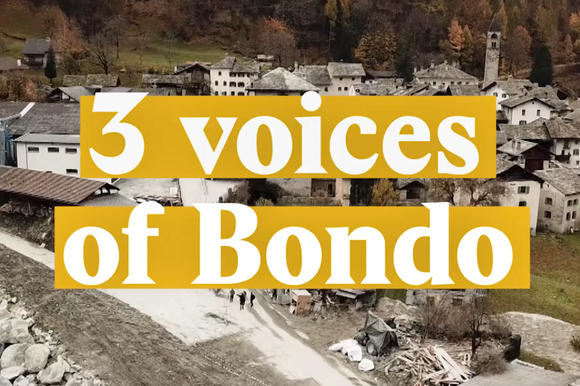 A cover image for a Nouvo video about the landslide in Bondo and what happened after.