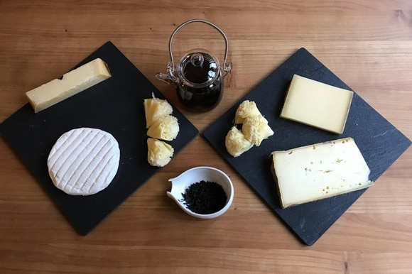cheese and tea platter