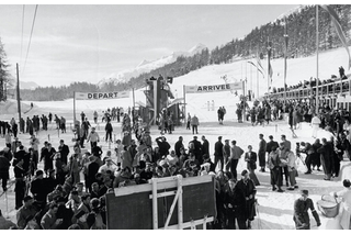 Cross country ski event at the 1948 Winter Olympics.