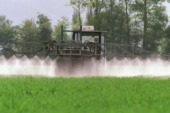 The initiative campaigners say 2,000 tonnes of pesticides are used every year in Switzerland, of which 85-90% on farms