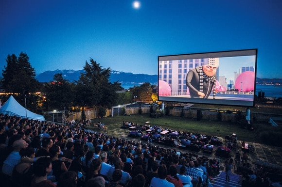 An open-air cinema in Lausanne