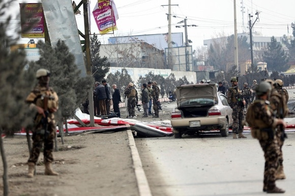 security forces in the streets of Kabul