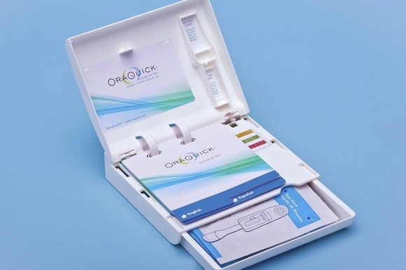 A home HIV test kit developed by OraSure technologies