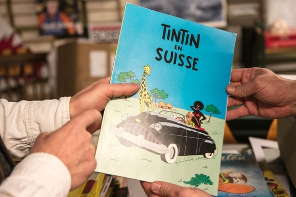 Tintin en Suisse : Piraten-Version von Tintin, publiziert in Holland in den 1980ern