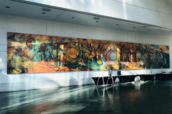New Old Wisdoms mural at the Honolulu Convention Center