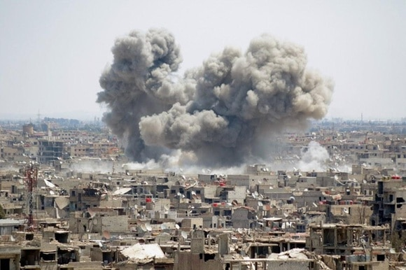 image of destruction in Syria