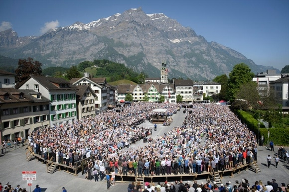 Open-air assembly in the town of Glarus