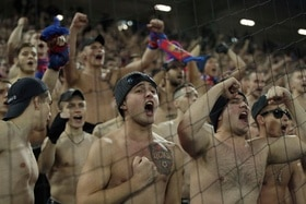 Supporters of CSKA Moscow
