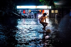 Flooding in Lausanne