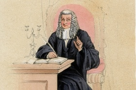 Drawing of a judge