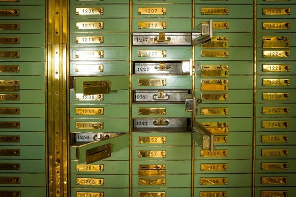 A picture of a Swiss banking vault