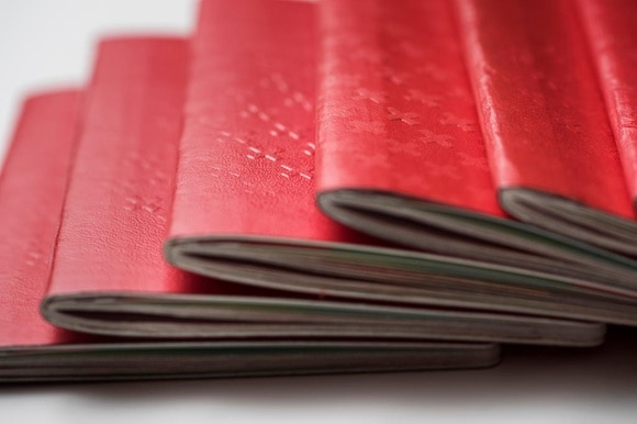 Swiss passports piled up
