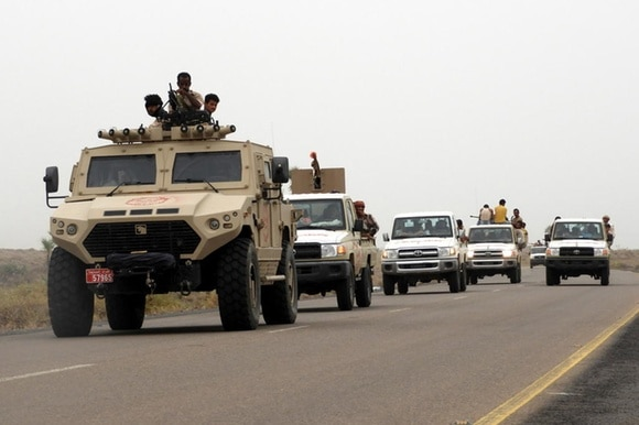 government vehicles in Yemen
