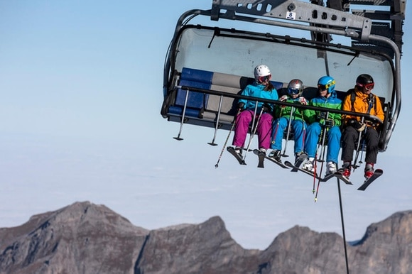 Chairlift on Titlis glacier