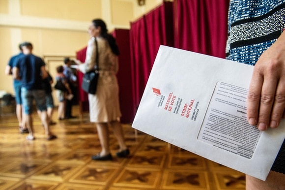 people voting in popular referendum