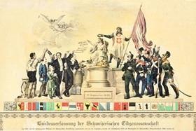Umschlag der ersten Bundesverfassung der Schweiz
