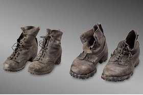 Two pairs of old boots found on Swiss glacier