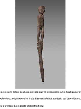 Wooden statue found on Arolla glacier