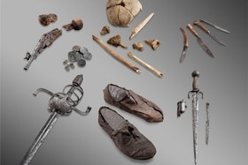 The bones and personal belongings of the Théodule Pass mercenary""