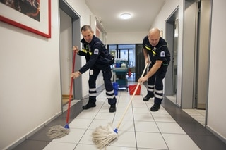 Mopping the floor at the base station