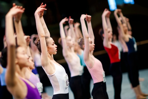 Young dancers at Prix de Lausanne