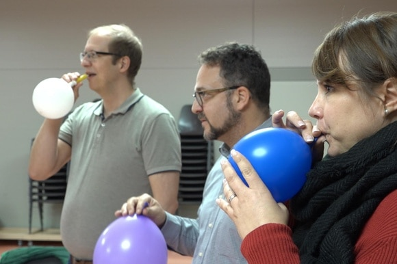 Using balloons to learn to yodel