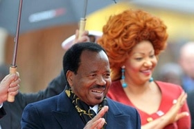 Cameroon president and wife