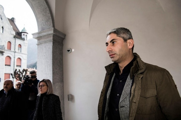 Johan Cosar arrives at the court on Wednesday