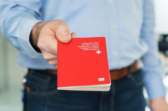 Red Swiss passport