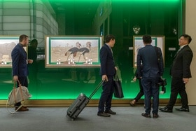 Visitors in front of the Rolex booth at Baselworld 2019