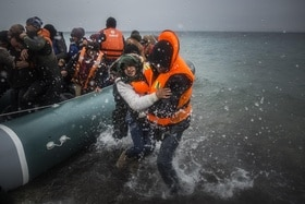 Refugees crossing the Mediterranean