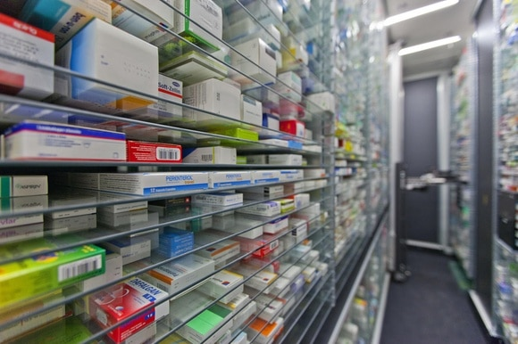 View inside a pharmacy