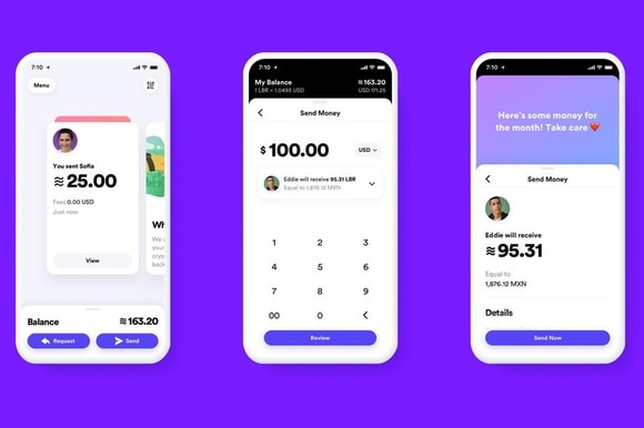 Demonstration of Libra payments on smartphones