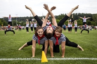 Demonstration of the STV Hendschiken during the Swiss Gymnastics Festival 2019