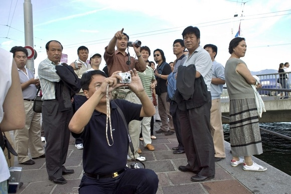 Group of Chinese tourists in Lucerne