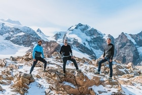 co-founders in the Alps