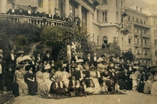 A wedding party in the 19th century